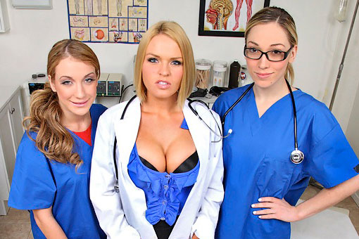 Krissy Lynn in CFNM Secret: Hospital Group Sex Fun