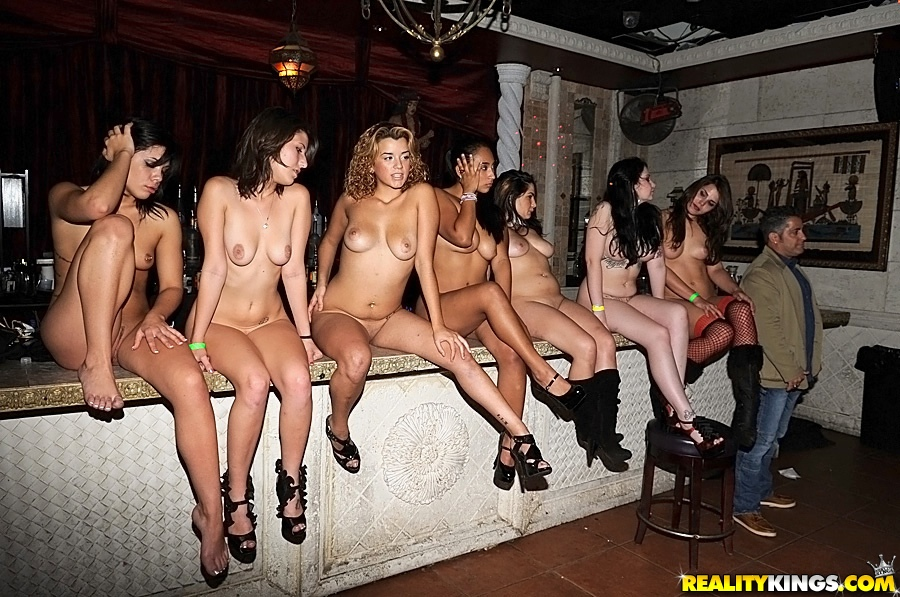 Crazy nightclub orgy with hot babes 6