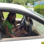 Hazel Allure in Street Blowjobs: Pull Over 01