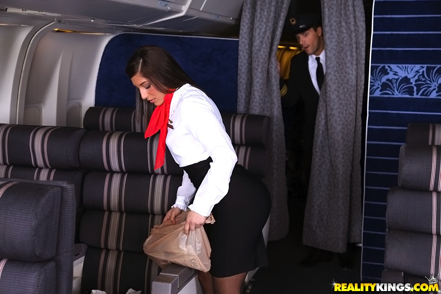 Airline captain fucked his new stewardess 7